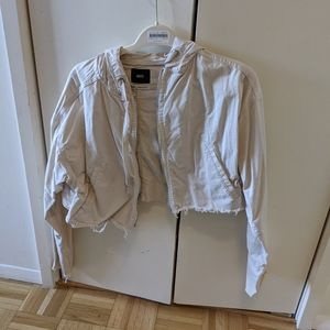Urban outfitters cropped and ripped jacket
